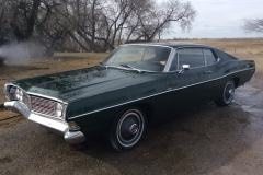 Year: 1968 Make: Ford Model: Galaxy 500 Colour: Green Style: 2 Door Fastback Engine: 390 Transmission: Auto Interior: Excellent condition – black Kilometers: Additional Info: Registration  : BC (current) Asking Price: $7,500 OBO