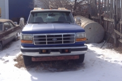 Year: 1997 Make: Ford Model: F350 Colour: Blue Style: Tow truck Engine:  7.3 Diesel Transmission: 5 speed Manual Interior: Fair condition – Red Kilometers: Additional Info: Registration  : Alberta (current) Asking Price: $8,000 OBO