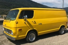 Yellow Chevy Van